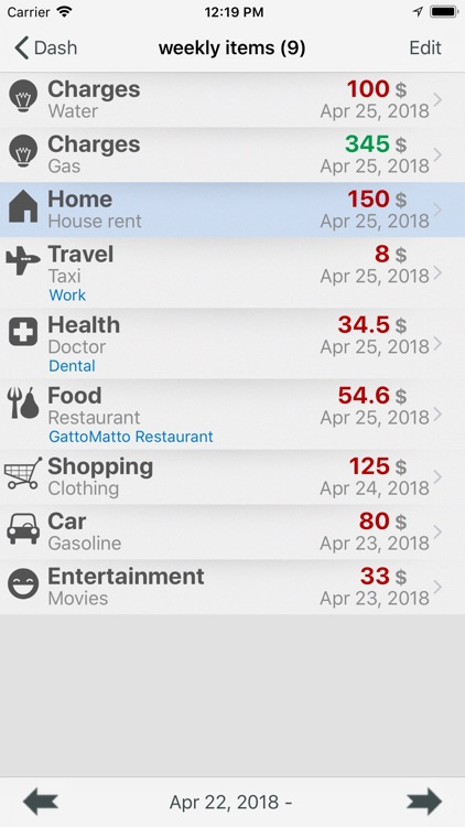 My Money - watch spending screenshot-6