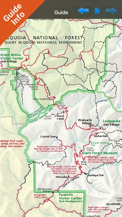 Sequoia - Kings National Park gps and outdoor map screenshot-3
