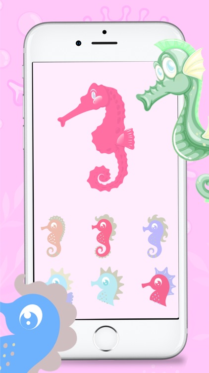 Bubble Seahorse Stickers screenshot-1