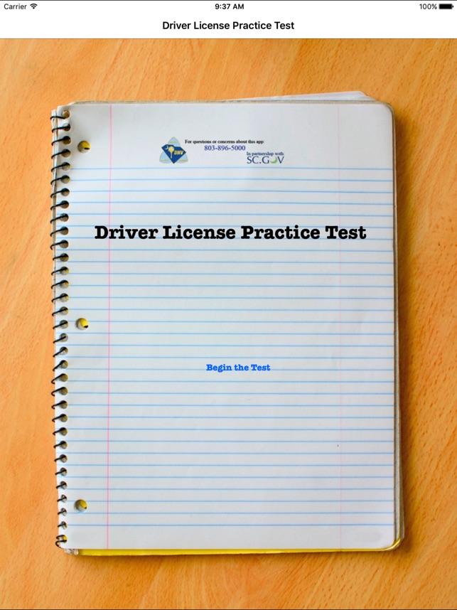 south carolina drivers license practice test
