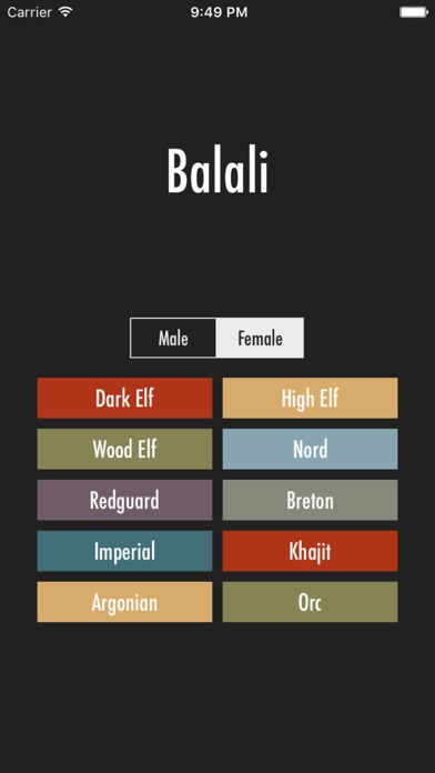 Elder Scrolls Name Generator screenshot one