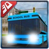 3D High School Bus Simulator - Bus driver and crazy driving simulation & parking adventure game
