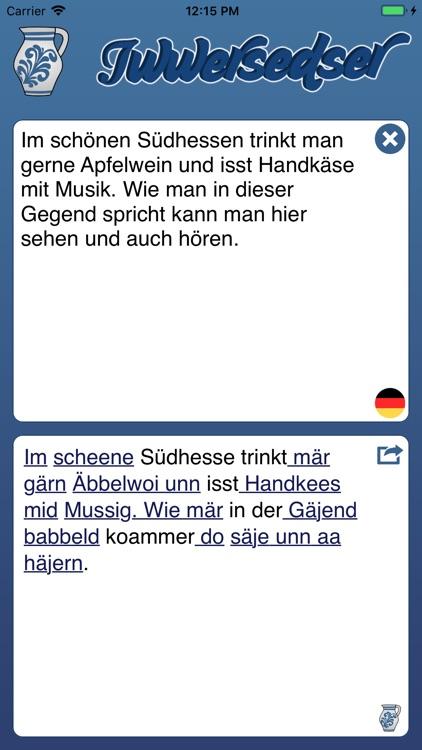 Iwwersedser - Hessisch Babbeln