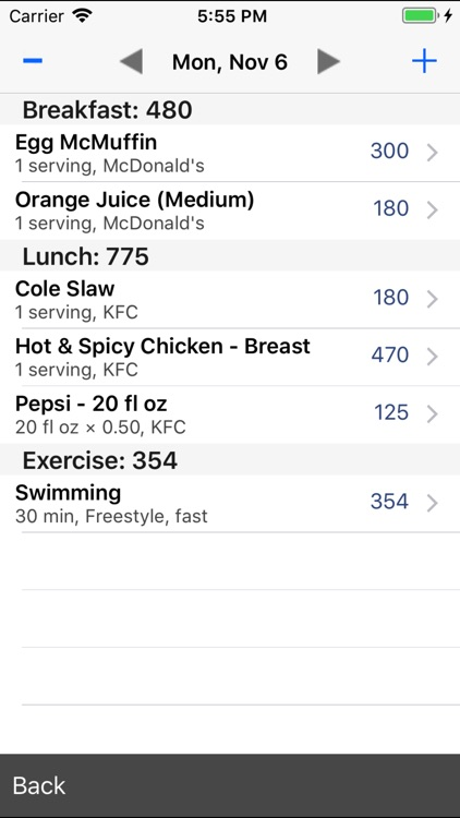 Restaurant Calorie Counter screenshot-4