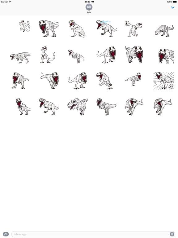 Animated T-rex Dinos Sticker screenshot 3