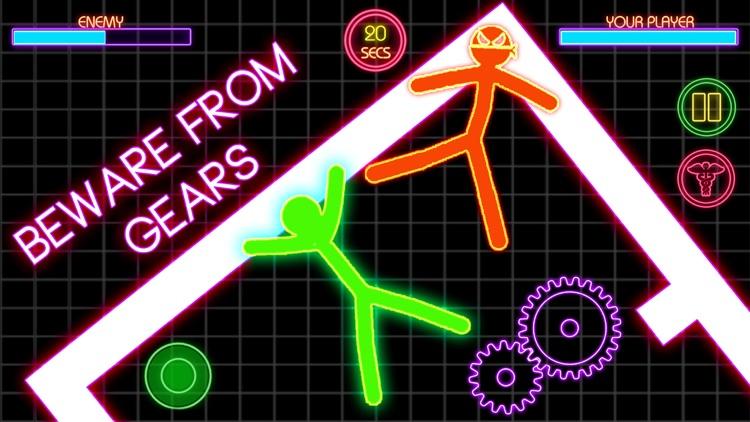 Stickman War Lightsaber Games screenshot-4