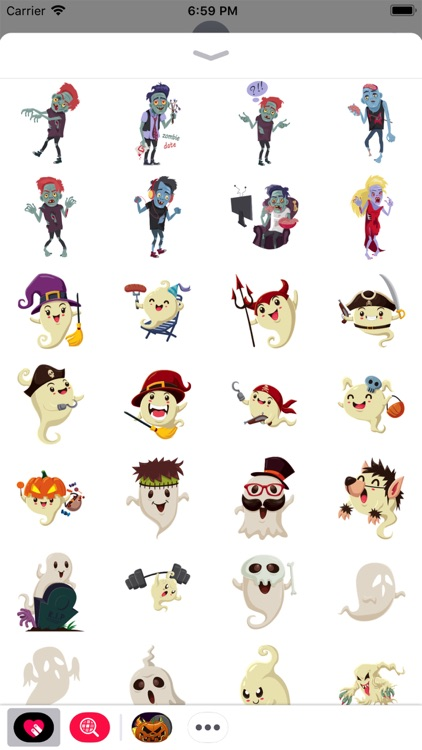 Scary Ghost n Zombie Stickers
