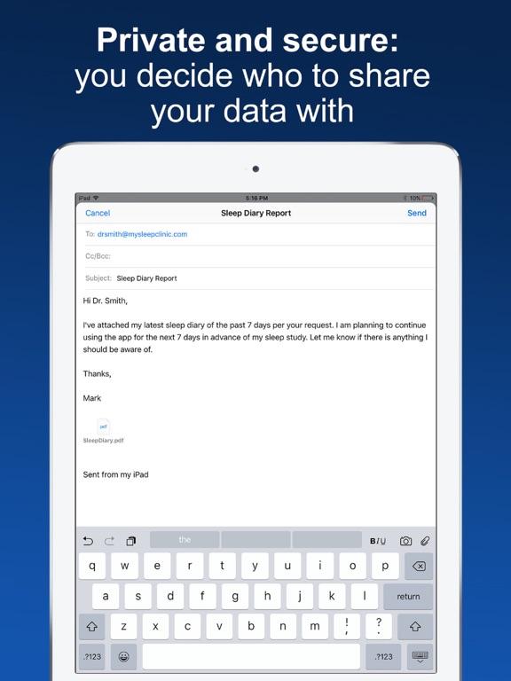 Sleep Diary with data export Screenshots