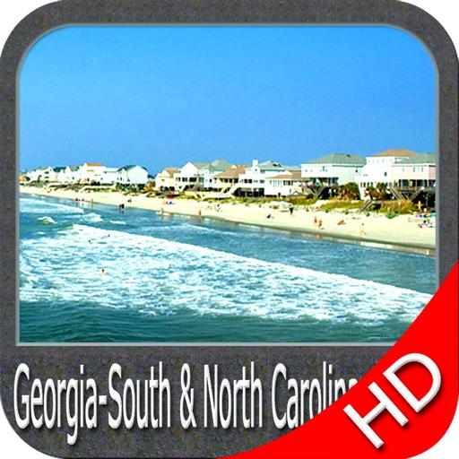 Boating Georgia South to North Carolina HD GPS Map