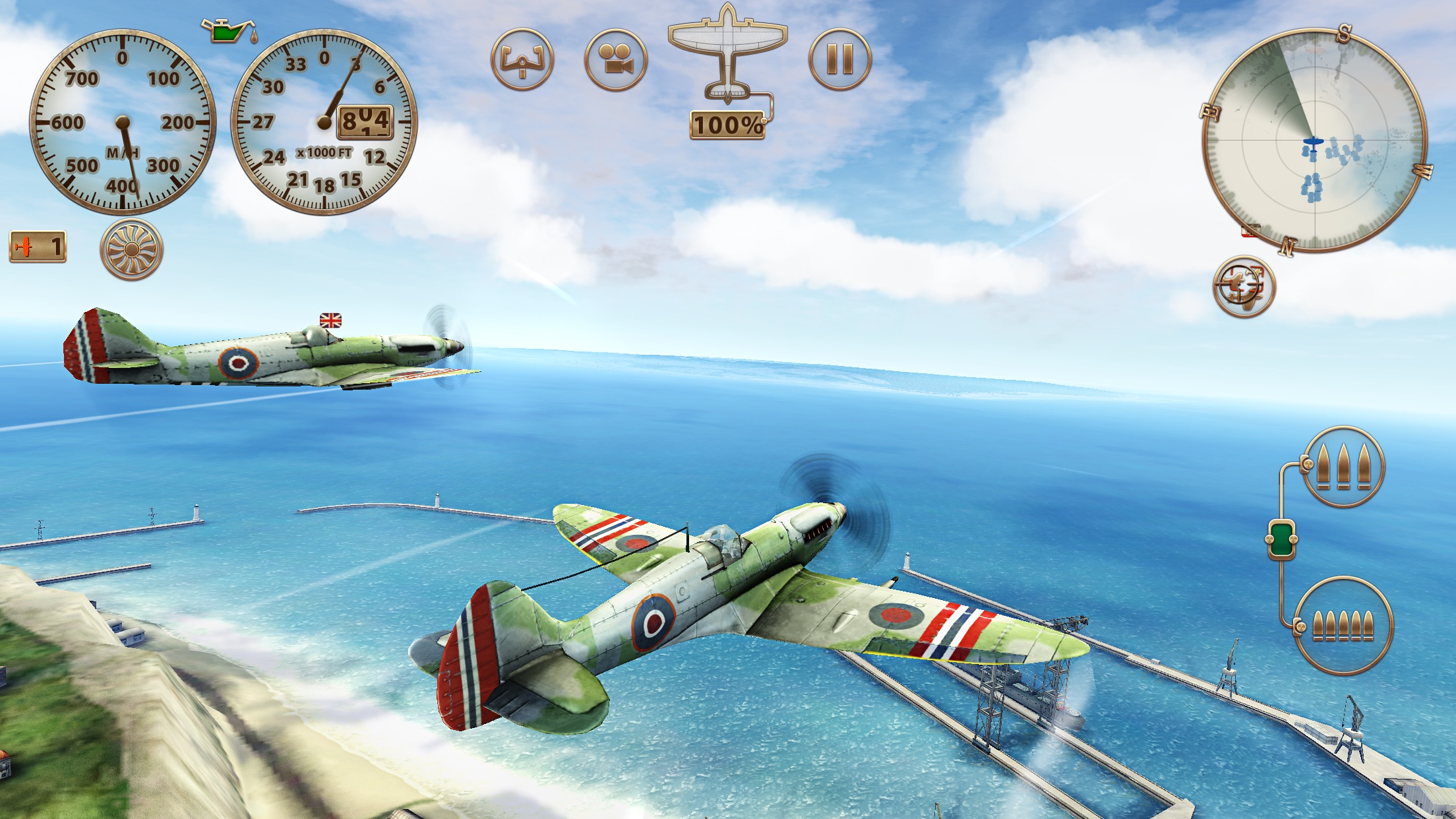 Screenshot do app Sky Gamblers: Storm Raiders