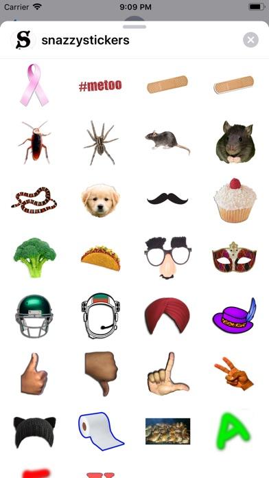 Screenshot of SnazzyStickers App