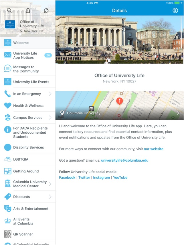 Columbia University Life on the App Store