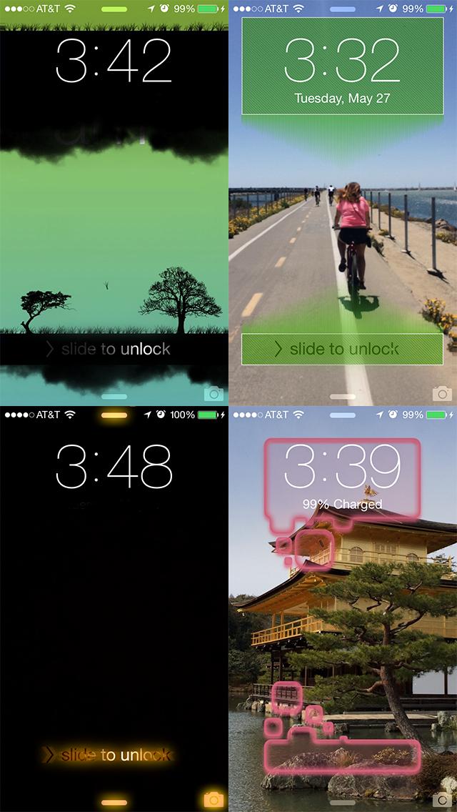 Screenshot #2 pour Slick - Personnaliser votre écran de verrouillage