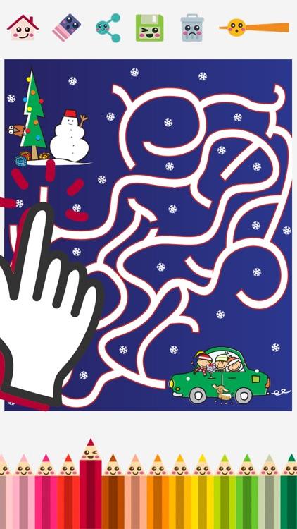 Christmas mazes & puzzle screenshot-3