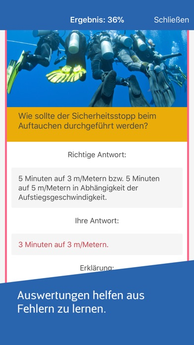 Screenshot for Scuba Trainer für Taucher in Germany App Store