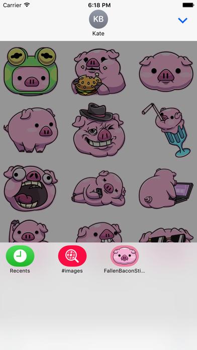 Fallen Bacon Stickers Screenshot 2
