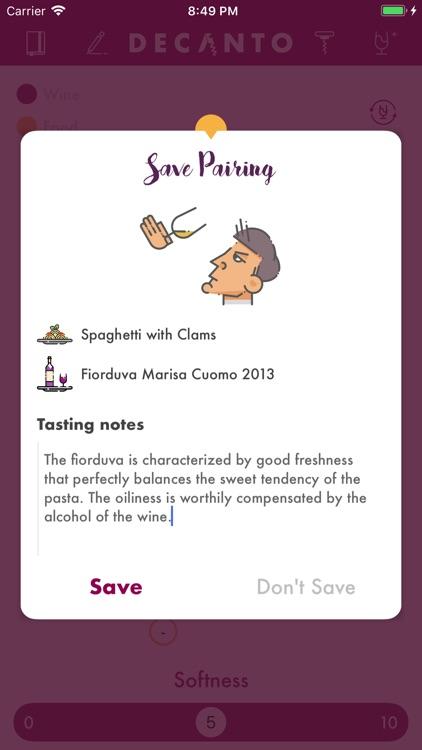 Decanto - Wine Pairing screenshot-4