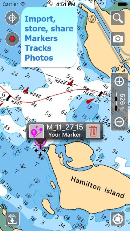 Aqua Map Canada - Nautical GPS screenshot-3