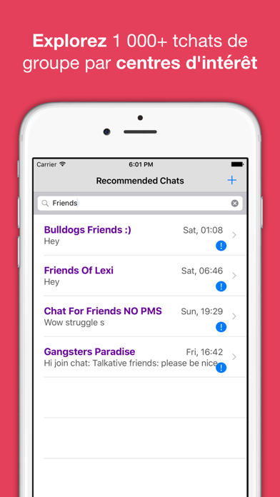Screenshot #3 pour Tchat anonyme & rencontres app