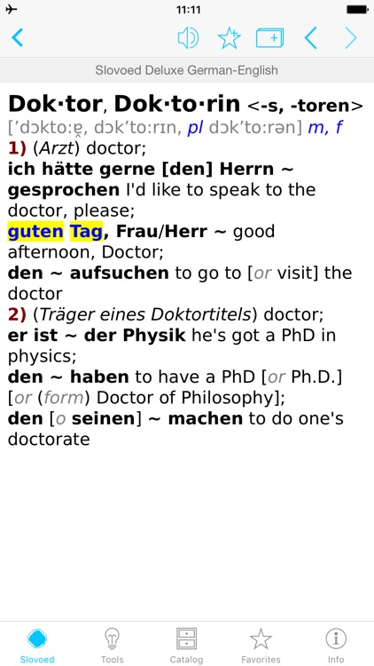 German <-> English Dictionary