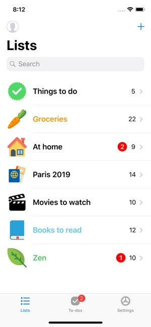 Pocket Lists 1 Screenshot