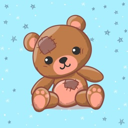 Teddy Bear with Love Sticker
