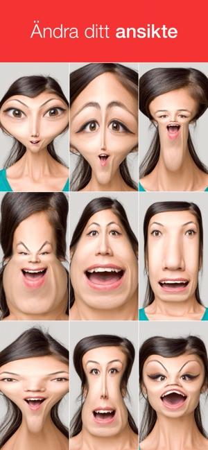 app förvränga ansikte