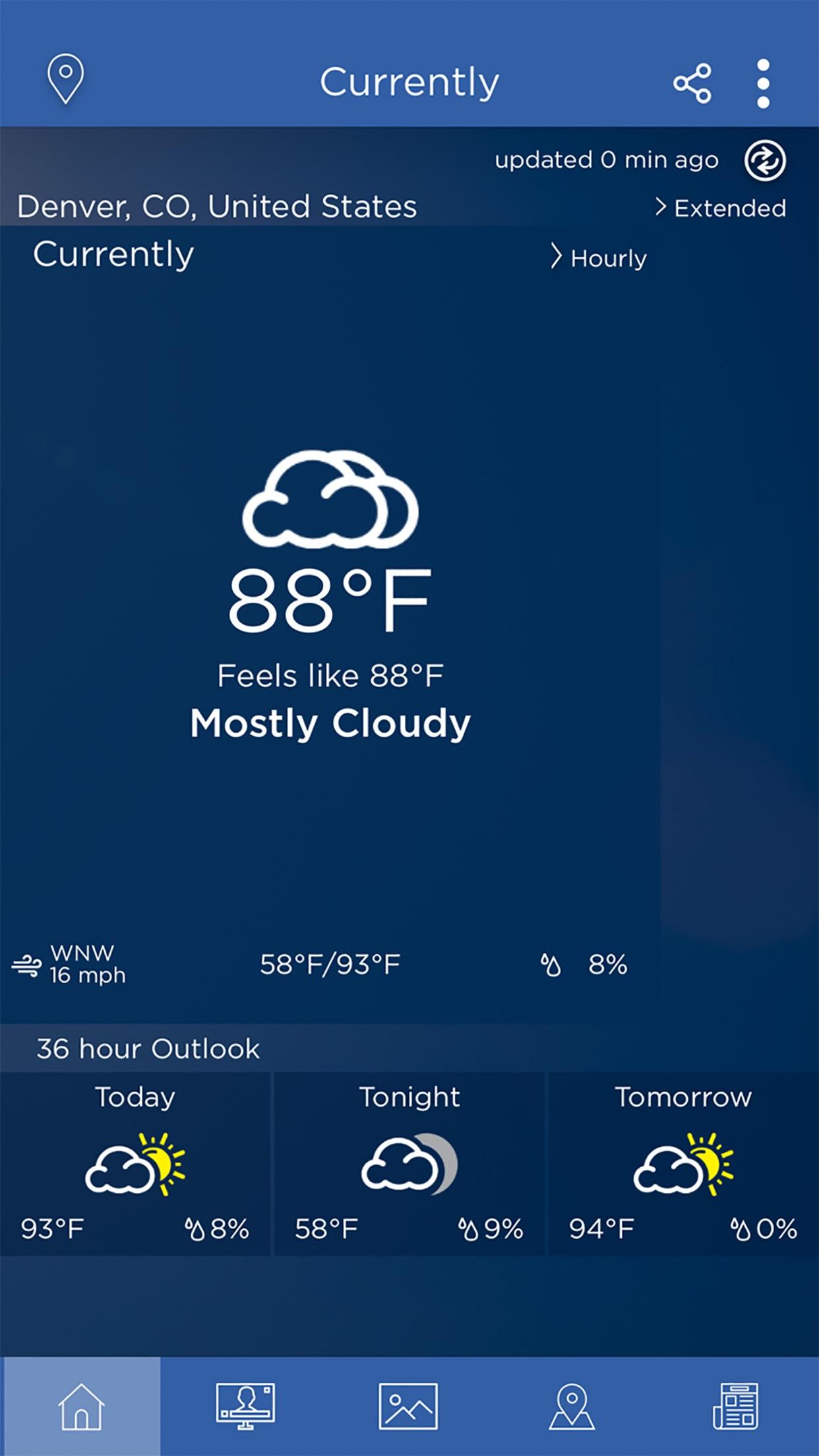 WeatherNation App Screenshot