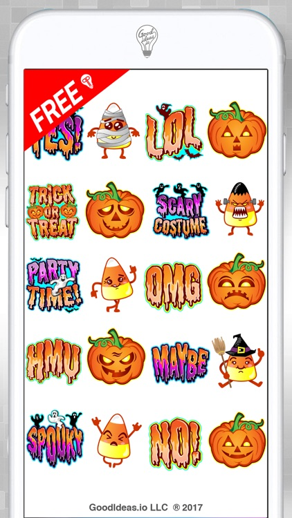 Halloween Hipster Stickers