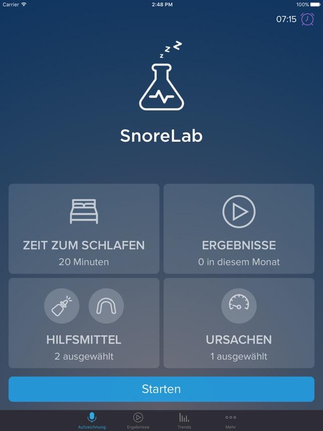Hochwertig  SnoreLab Im App Store