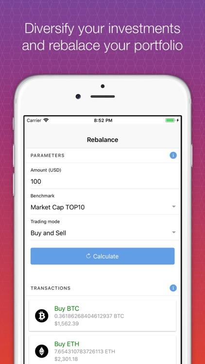 Crypto Index Portfolio screenshot-3