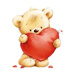 St.Valentine, Love, Cute Bears