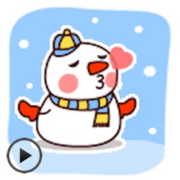 Animated Funny Snowman Sticker