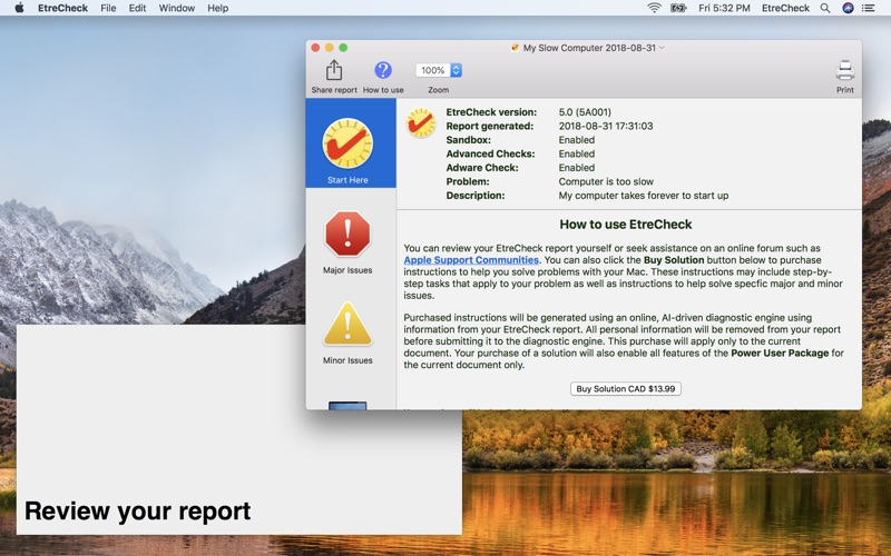 EtreCheck Screenshot - 3