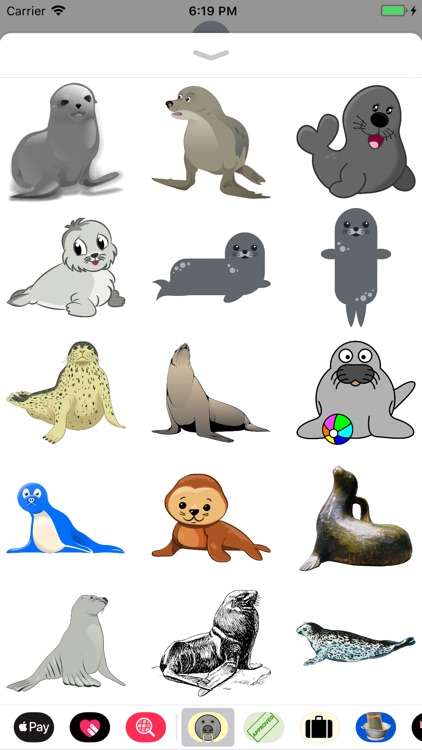 Slippery Seal Stickers
