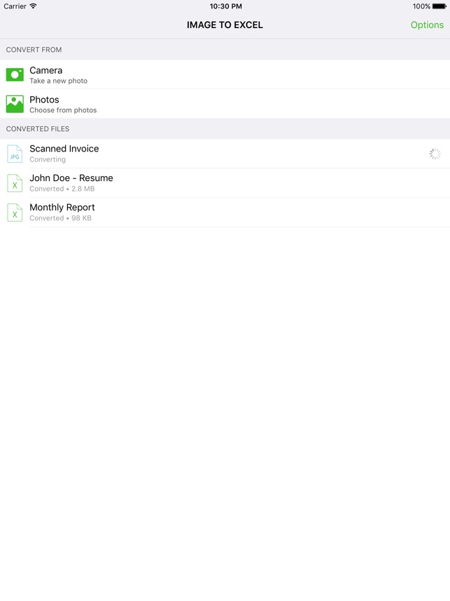 Image to Excel Converter - OCR on the App Store