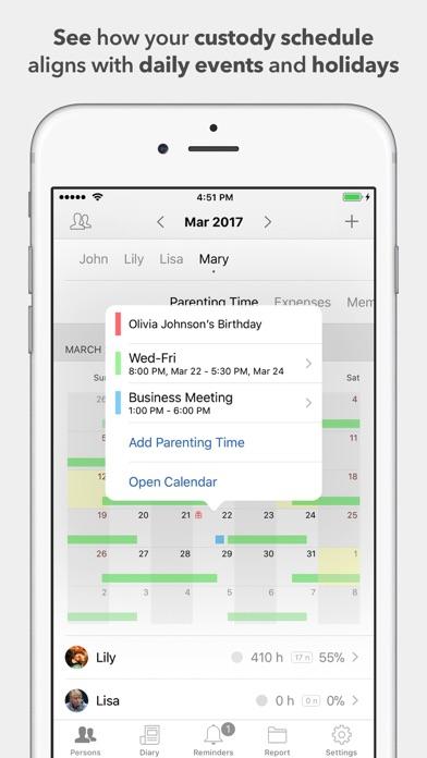 Screenshot for Alimentor - Child Custody Log in United States App Store