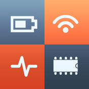 System Status - activity monitor, network info, battery charge & memory manager icon