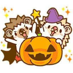 Cute Hedgehogs in Halloween