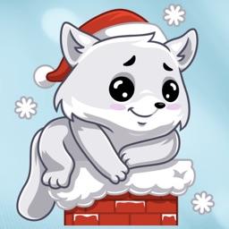Cute Winter Kitty Stickers