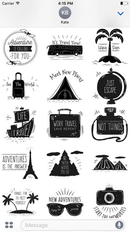 Let's go Travel - Sticker Pack for iMessage screenshot-4
