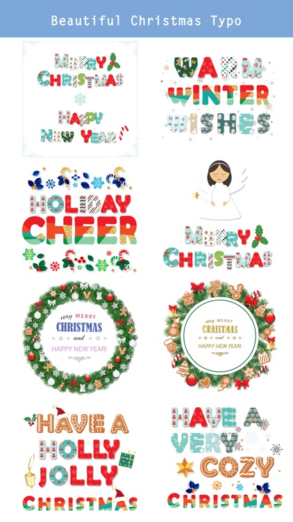 Christmas Lettering Stickers .