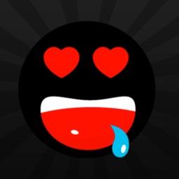 Black Flat Emoji