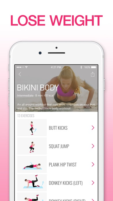 Screenshot for Workout for Women: Fitness App in Belgium App Store
