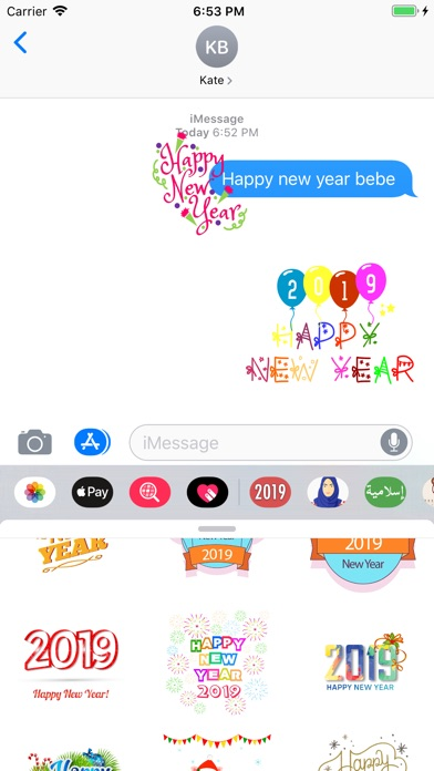 Screenshot for Happy new year 2019  تهاني سنة in United States App Store