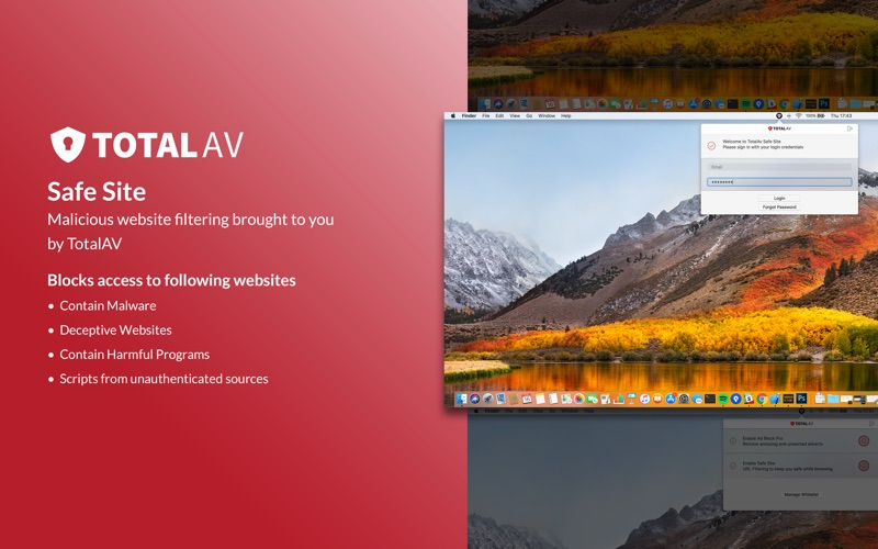 TotalAv Safe Site скриншот программы 1