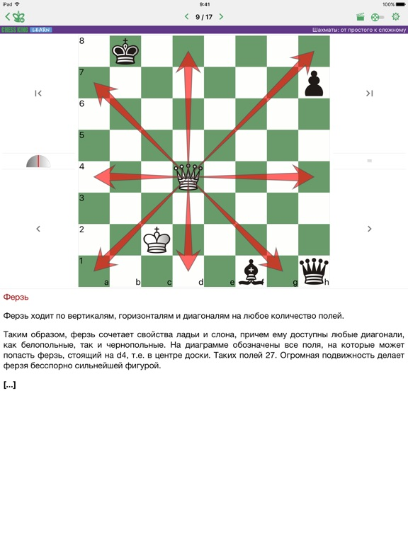 Шахматы от простого к сложному для iPad