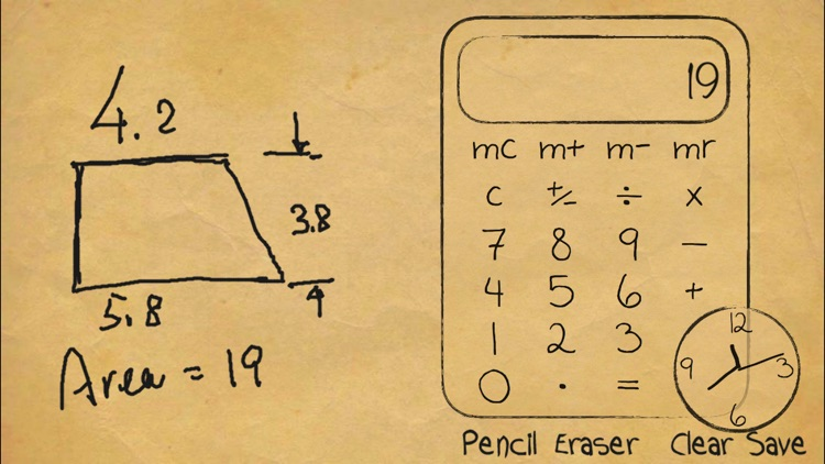 Paper Calculator & Clock screenshot-3