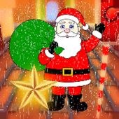 Santa Sliding In Snow