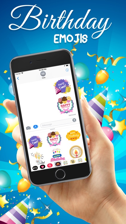 Birthday Emojis Stickers